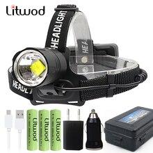 Lampe frontale Led, batterie externe, nouvel arrivage Original, lampe torche 8000LM 7800mAh