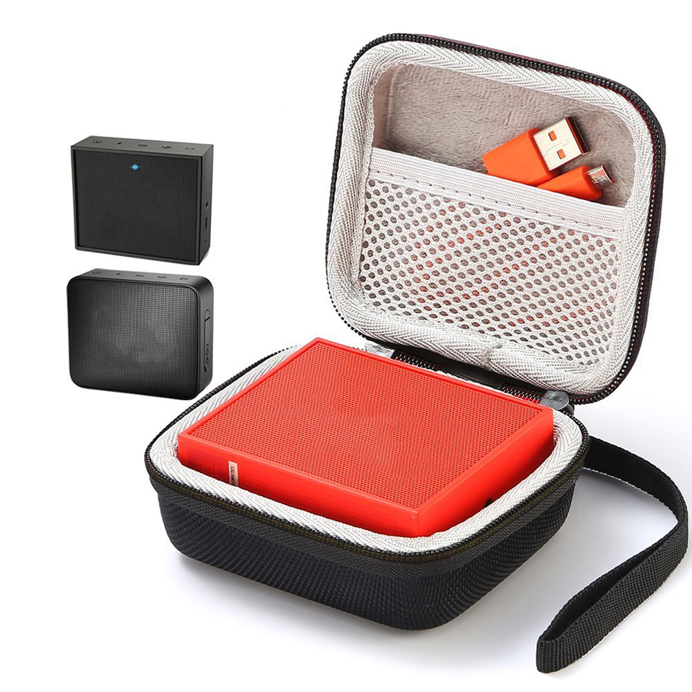 Square Speaker Case Travel Cover For GO 2 Bluetooth Speakers Sound Box Storage Carry Bag Pouch Mesh Pocket Strap Handbag