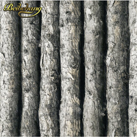 beibehang Wood Textured Vinyl 3D Wallpaper Forest Thick Embossed Tree of Wall paper Roll Home Decor tapete for background wall