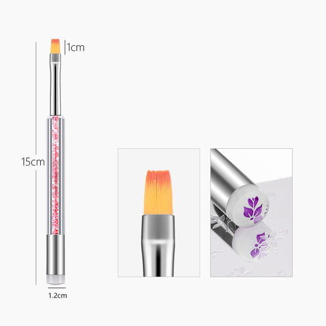 1pc Double End Silicone Nail Art Painting Gel Brush Stamper Head Manicure UV Gel Polish Accessory New Nail Salon Drawing Pen 4