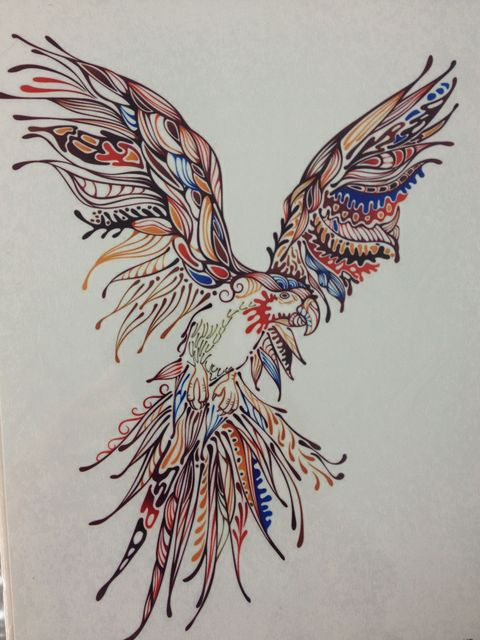 21 X 15 CM Colored Birdr Temporary Body Art Waterproof Tattoo#118