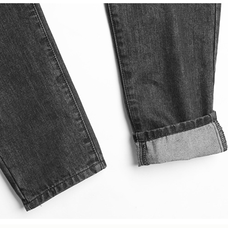 d78d4303427 Fashion Jeans Women Black Denim Pants High Waist BF Type Straight Wide Leg  Pants Bleached Vintage Ladies Cotton Denim Trousers-in Jeans from Women s  ...