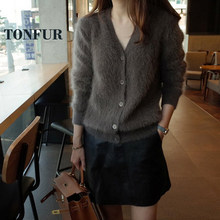 100% Real Mink Cashmere Button Cardigans Long Mink Cashmere Sweaters Factory Customize Wholsale Retail OEM FP909(China)