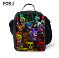 Bolsa Termica Five Nights at Freddys lancheira Termica lunch Bags for Kids Girls Children Lunchbox Bag Insulated FORUDESIGNS