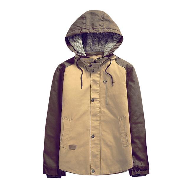 Homens da moda casaco de inverno quente jaqueta casual outwear algodão-acolchoado para baixo parka sobretudo frete grátis AW1368