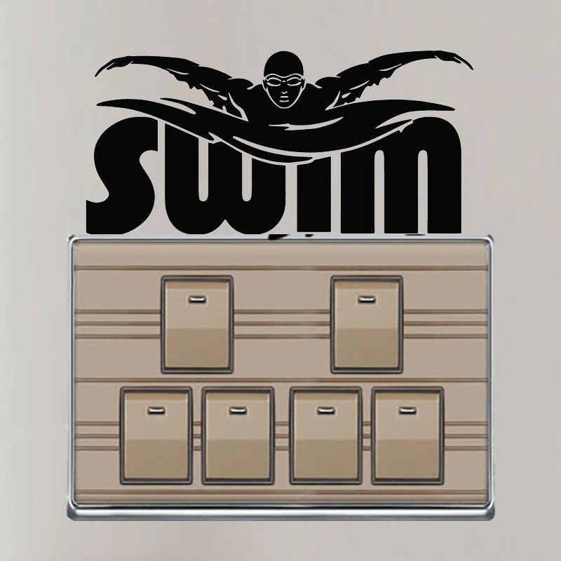 YJZT Nadar Jogador Atlético Sports Wall Decor Decal Moda Interruptor Quarto Adesivo 8SS2363