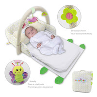 Portable Baby Crib Nursery Outdoor Travel Folding Bed Infant Toddler Cradle Storage Bag AN88