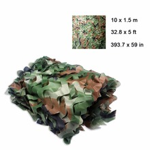 Woodlands Camouflage Net 10M X 1.5M Hunting Camping Car Oxford Forest Camo Net Military Jungle Leaves for Military Car Hide Camo