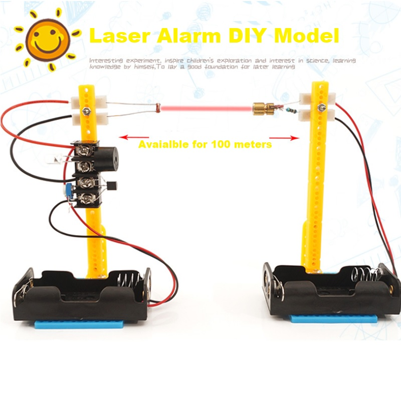 DIY STEM Infrared Ray Alarm Toys Ultrared Rays Alarms Model Children Physical Scientific Learning Aid Educational Toy Kids Gifts