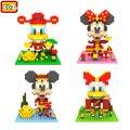Mickey Mouse Feliz Navidad LOZ Diamond Bloques Nano Donald Modelo Figuras de Acción Bloques de Construcción 3D Bricks Juguetes de Año Nuevo Ver..