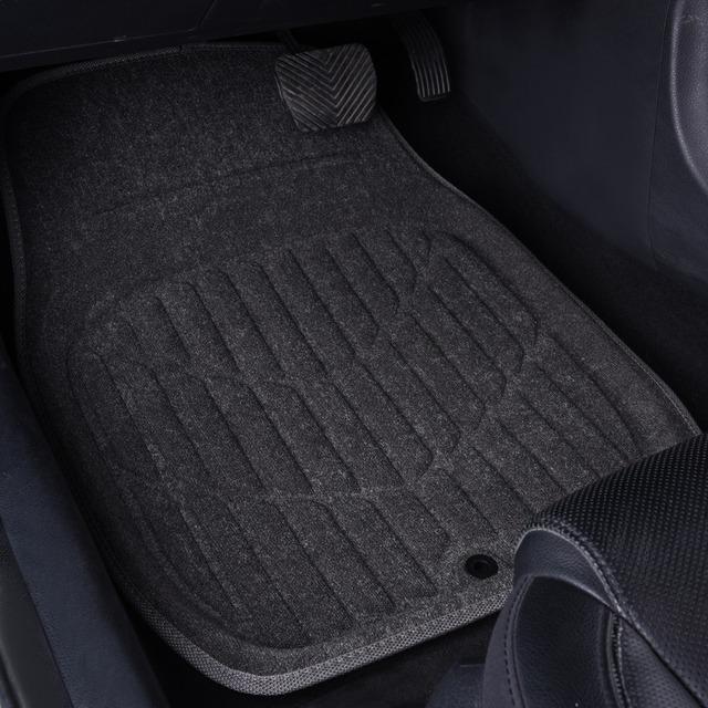 Alfombrillas de suelo de coche Universal gris accesorios de Interior de coche Material de toalla alfombrillas de suelo Protector de estilo de coche para Lada