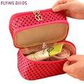 Flying birds! 2015 de Múltiples Funciones Del Maquillaje Del Organizador Del Bolso Mujeres Bolsas de Cosméticos de tocador kits fashionTravel Bolsas LS5740