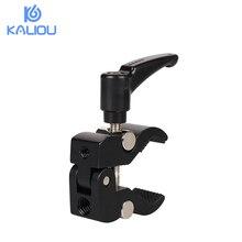 Kaliou 작은 크랩 클램프 펜치 클립 플래시 브래킷 조작 용 슈퍼 클램프 lcd 모니터 매직 암 사진 스튜디오 액세서리