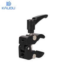 Kaliou 小さなカニクランププライヤークリップフラッシュブラケットリグ液晶モニター用のマジックアームフォトスタジオアクセサリー