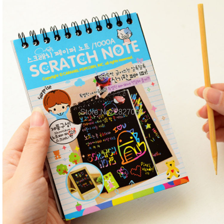 Magic-Drawing-Book-DIY-Scratchbook-Scratch-Stickers-Notebook-Black-Cardboard-Stationery-Drawing-Toy-As-Gift-For-Kids-2