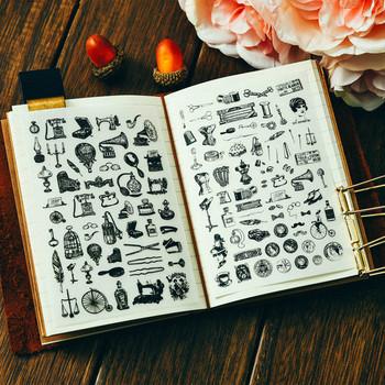 Retro artykuły spożywcze Rub na zestaw do scrapbookingu projekty DIY Album fotograficzny karty podejmowania rzemiosła tanie i dobre opinie VUAWRTG paper 8*11 5CM 2 pcs set