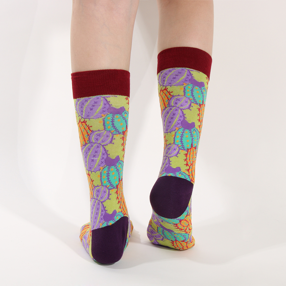 1Pair Fashion Unisex Mens Colorful Retro Funny Art Pattern Sock Soft Cotton Long Socks Art Painting Socks Winter Warm