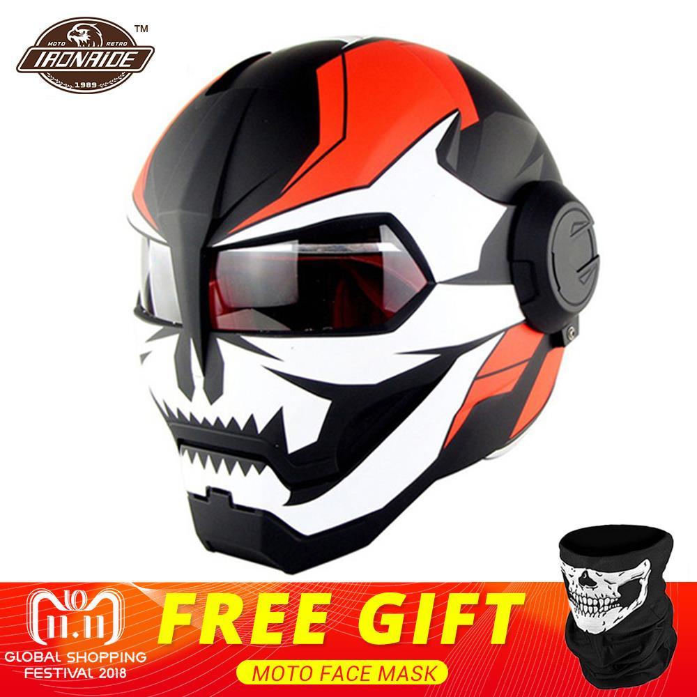 цена HEROBIKER Motorcycle Helmet Retro Motorbike Helmet Full Face Vintage Retro Capacetes Motocross Full Face Helmet Moto Casco