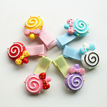 Girls Novelty Hairpins 10pcs/lot Plastic Lollipop Cute Kids Hair Clips Children Hairpin Wholesale Mini Barrettes