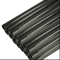 2pcs Carbon Fiber Tube 3K Plain Weave Glossy Surface Length 500mm 10mm*8mm 12mm*10mm 14mm*12mm 16mm*14mm 18mm*16mm 20mm*18mm