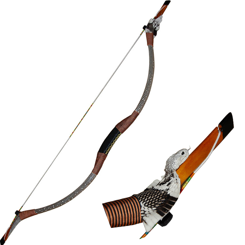 Archery recurve wooden bow 144cm/56.7inch 35-50lbs wood and fiberglass laminated snakehead outdoor hunting bow
