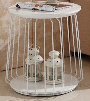 Из нержавеющей стали Металл Собранный мрамора закаленное стекло небольшой чайный столик. Кофейные столики