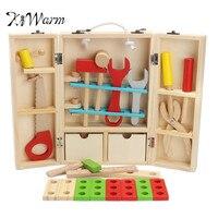 KiWarm Trẻ Em Bé Đồ Chơi Giáo Dục Khối Xây Dựng Bằng Gỗ Toddler Đồ Chơi Học Tập Tool Set Tháo Sửa Chữa Công Cụ DIY Craft Cung Cấp