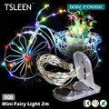 TSLEEN Ultra Small Weight 2m 20 LED Battery Powered Wire Mini Fairy Light String