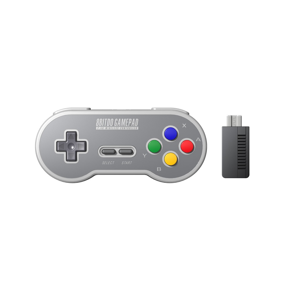 8BitDo SF30 Gamepad Wireless Game Controller with 2.4G NES Receiver for Switch Android PC Mac