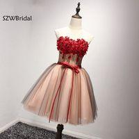 Новое поступление короткое коктейльное платье 2019 по колено Sheer коктейвечерние льные Платья вечерние Vestidos Curtos De Renda Para Festa