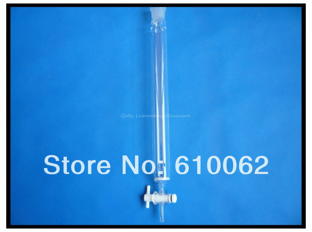 400ml Lab Glass Chromatography Column, ID 40mm, Column Length:300mm, with Teflon Stopcock enantioresolution of certain pharmaceuticals by liquid chromatography