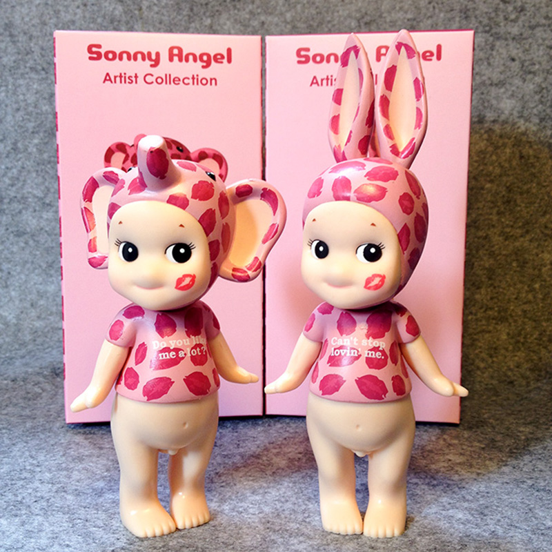 Sonny Angel Kiss Mark Leopard ПВХ фигурку Коллекционная игрушка 12-15.5 см 2 шт./компл. KT930