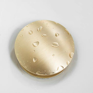 Image 3 - זהב מברשת אמבטיה אגן כיור ניקוז פסולת Pop Up פסולת וניטי כיור כלי ללא & עם הגלישה עתיק ברז אגן ניקוז