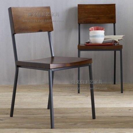 American vintage sillas de bar de madera silla de sala de estar respaldo bajo comedor para.jpg