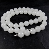 Natural Hetian 8 mm White Wafer Natural Necklace Cool Necklace Accessories Beads Necklaces Gift For Women Jewelry