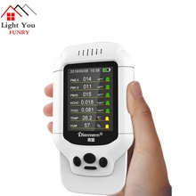 Air Quality Detector Meter Monitor with Color LCD Multifunctional Operating System for Indoor Formaldehyde HCHO PM1.0 PM2.5 PM10 цены