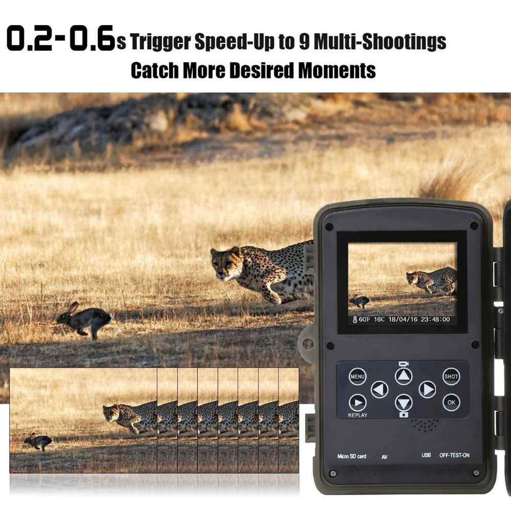Câmera de caça 12mp 1080 p hd