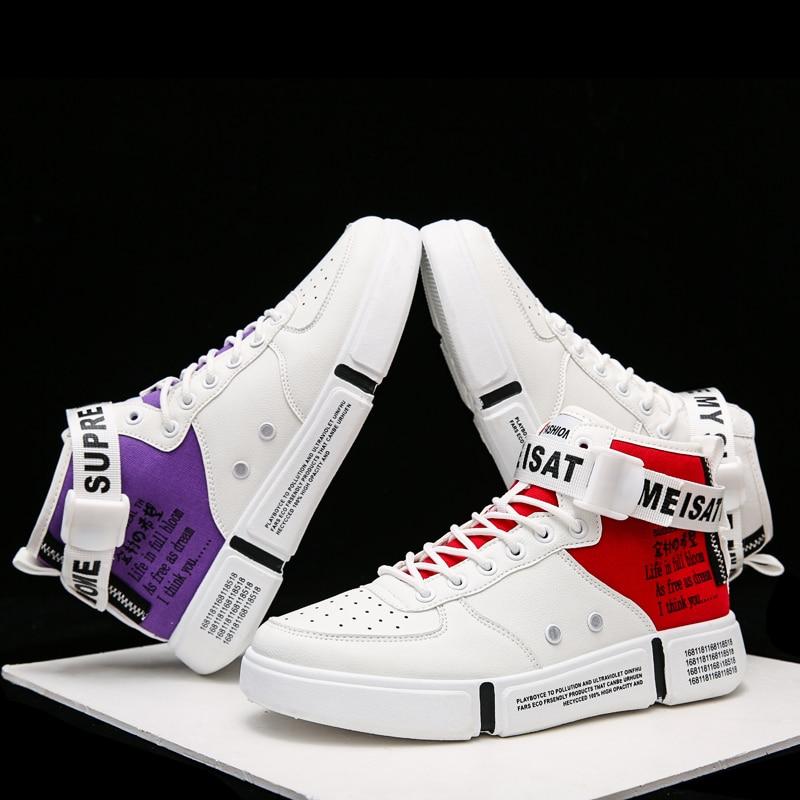 Klywoo sapatos masculinos tênis botas de tornozelo tamanho grande 39-46 justin bieber botas masculinas superstar hip hop sapatos masculinos de alta superior sapatos casuais