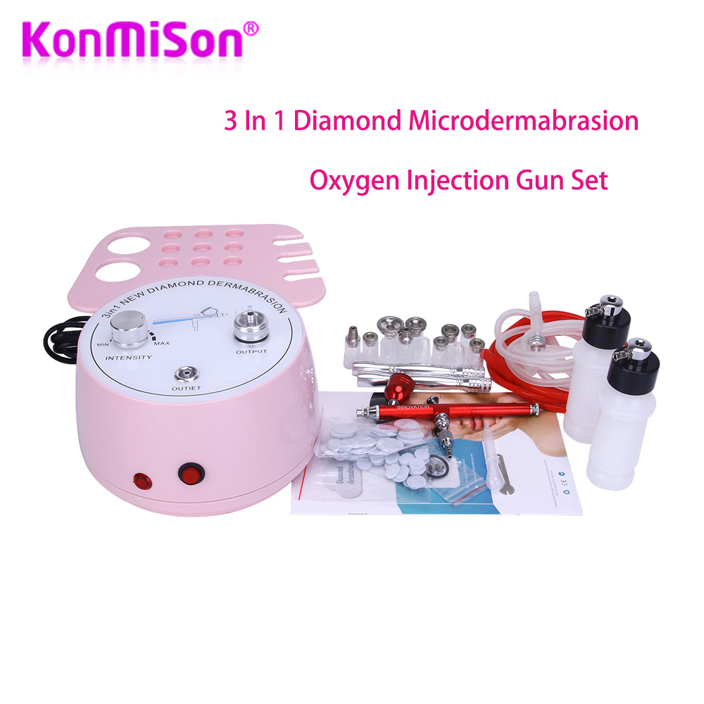 3 In1 Diamond Microdermabrasion Dermabrasion Machine Water Spray Exfoliation Beauty Machine Oxygen Injection Facial Peeling SPA