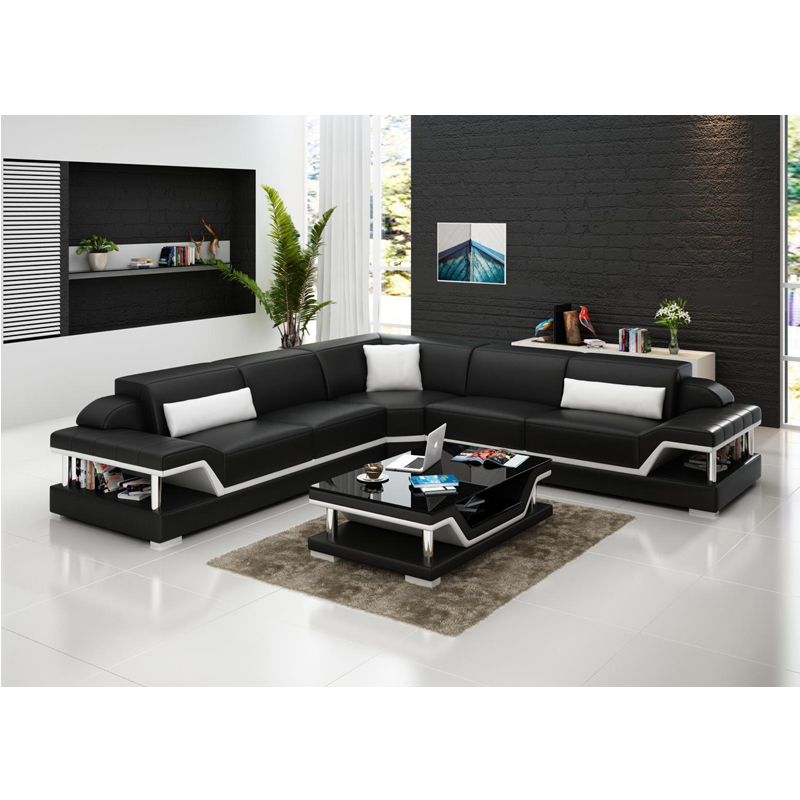 US $1359.0 |Cheap modern new design white black leather sectional corner  sofa-in Living Room Sets from Furniture on Aliexpress.com | Alibaba Group