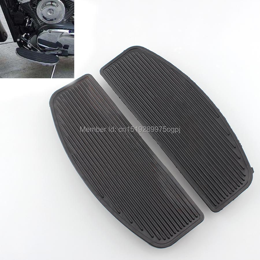 Front Rubber Rider Insert Floorboard Foot Peg Pad For Harley Electra Road Glide