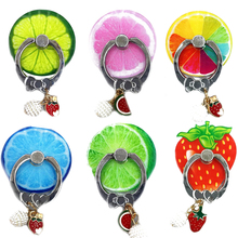 Universal Finger Ring Holder For Phone 360 Rotation Fruit Mobile Stand With Pendant Samsung Cell