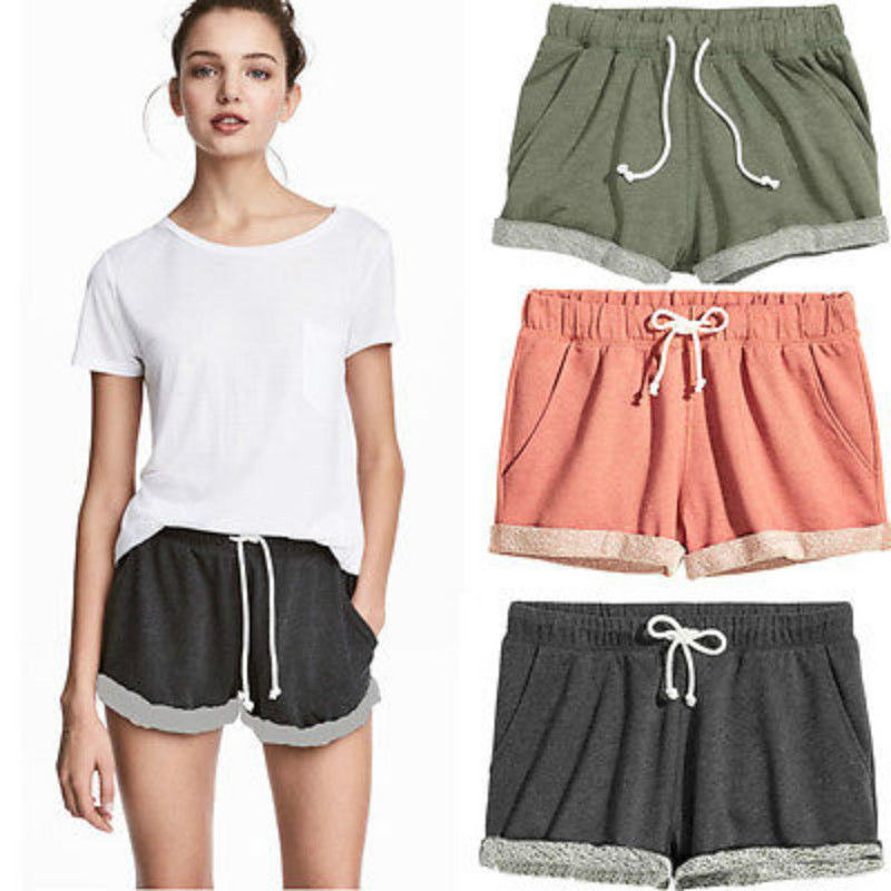 Ladies Summer Casual Cotton Shorts Women High Waist Sweatpants Hot Shorts Outfits Pantalon kleider weit