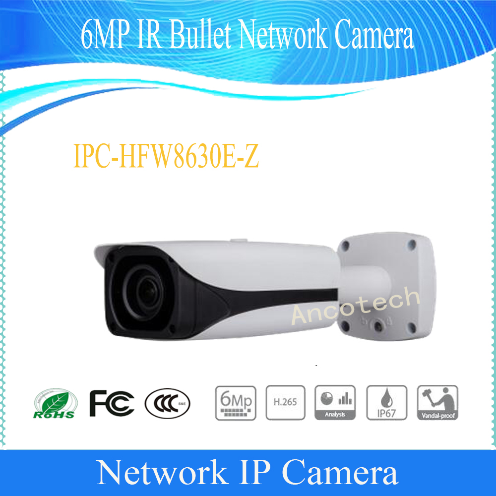 Free Shipping DAHUA Security IP Camera 6MP FULL HD IR Bullet Network Camera IP67 IK10 With POE Without Logo IPC-HFW8630E-Z free shipping dahua security ip camera cctv 8mp full hd ir bullet network camera with poe ip67 ik10 without logo ipc hfw5830e z