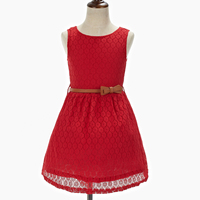 2 8 Years New Gift Summer Lace Vest Girls Dress Baby Girl Cotton Dress Chlidren Clothes