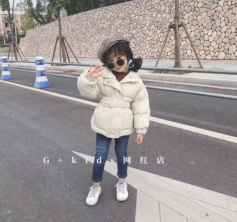 Korean childrens clothing girls winter jacket 2018 new products waist hooded cotton padded cotton clothing bread serviceKorean childrens clothing girls winter jacket 2018 new products waist hooded cotton padded cotton clothing bread service