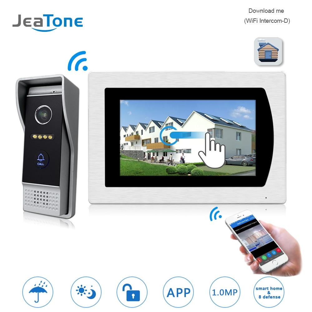 WIFI IP Telefone Video Da Porta Vídeo Porteiro Campainha 7 ''Tela Sensível Ao Toque de Controle De Acesso De Apartamento Sistema de Alarme da Zona de Detecção de Movimento