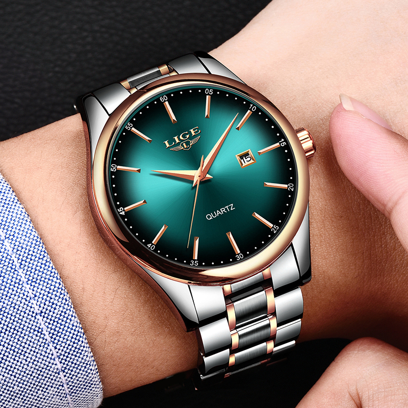 Image 5 - 2019 LIGE Simple Fashion Red Wristwatch Mens Watches Top Brand Luxury Waterproof Quartz Watch For Men Sport Clock Montre Homme-in Quartz Watches from Watches