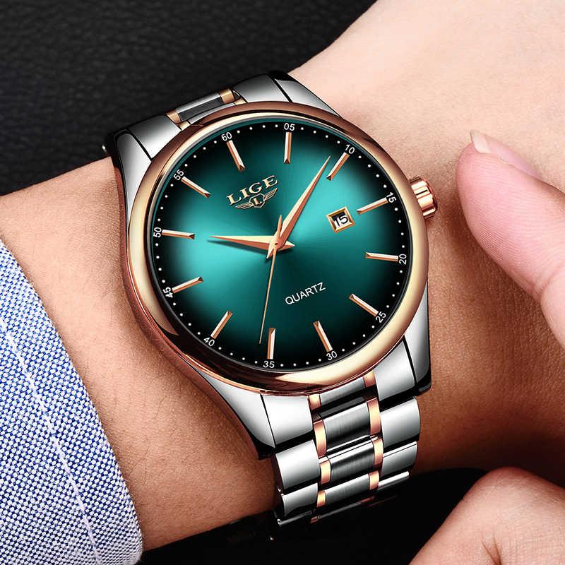 2019 lige simples moda vermelho relógio de pulso dos homens relógios marca superior luxo à prova dwaterproof água relógio de quartzo para homem esporte montre homme