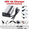 48 V 4A Cargador de Batería LiFePO4 Alta Potencia ouput 58.4 V 4A Cargador Inteligente Para 16 S 51.2 V LiFePO4 baterías de carga